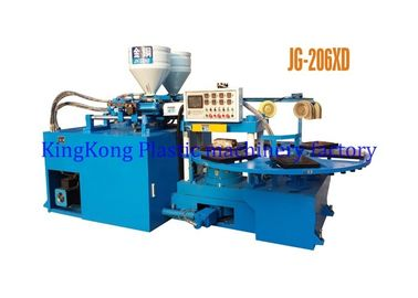 Double Colors Straps Shoe Injection Molding Machine , PVC Uppers Making Machine